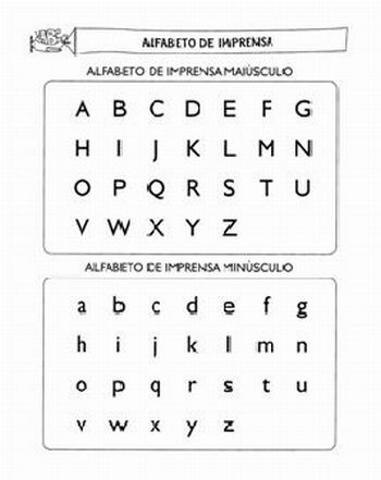 alfabeto imprensa