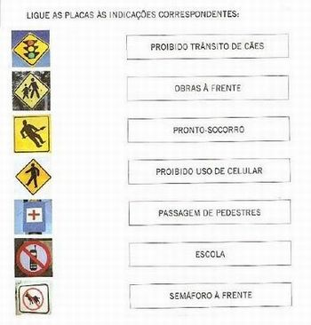 placas de transito exercicios