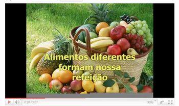 video musica alimentos