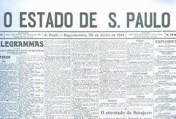 A Capa do jornal O Estado de S. Paulo