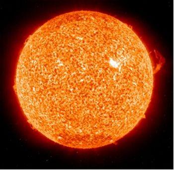 sol laranjado