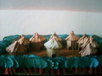 maquete aldeia