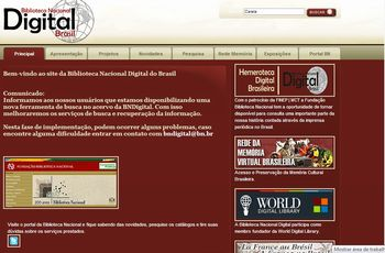 Site Biblioteca Nacional