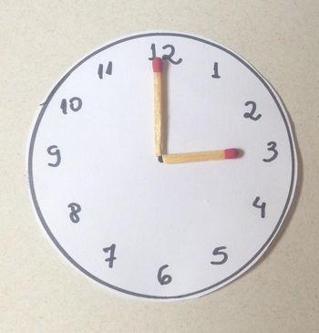 6d736e0b6c Fonte: Imagem da própria autora: relógio feito com pedaço de papel.