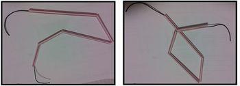 Linhas poligonais abertas com canudinhos