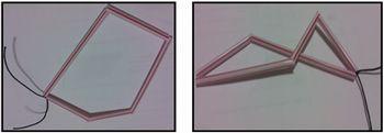 Linhas poligonais fechadas com canudinhos