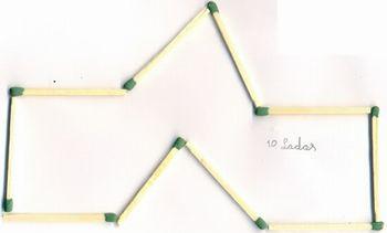 Polígonos construídos com fósforos