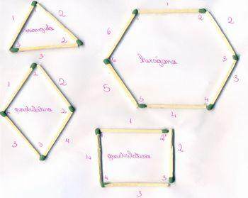 Indicação da quantidade de palitos de fósforos e números de pontas coloridas