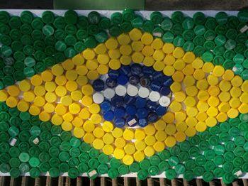 Bandeira do Brasil - tampinhas