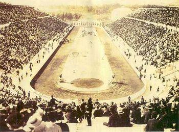 Estádio Panathenaic em Atenas - antes