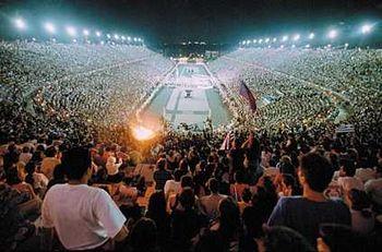 Estádio Panathenaic em Atenas - atual