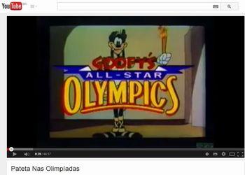 Pateta nas Olimpiadas - video